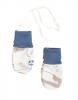 JOHA merino/bambus rukavičky kabinková lanovka  modrá