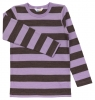 Joha merino tričko hnědý/fialový proužek