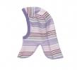 Kukla merino/bavlna proužky fialové