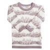 JOHA merino/bambus tričko hory fialový lem