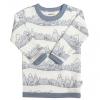 JOHA merino/bambus tričko hory modrý lem