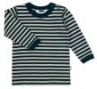 JOHA merino/bio bavlna tričko pískové/modrý proužek