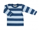 JOHA merino tričko modrý proužek