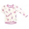 Joha merino tričko BEACH LIFE růžový lem