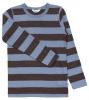 Joha merino tričko hnědý/modrý proužek