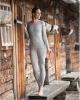 Merino/hedvábí dámské tričko šedý melír