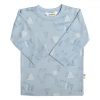 JOHA merino  tričko veselý medvídek modré