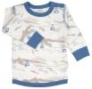 JOHA merino/bambus tričko kabinková lanovka  modrá