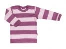 JOHA merino tričko růžový proužek