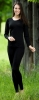 Merino/hedvábí dámské legíny černé